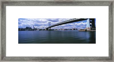 Ben Franklin Bridge Across The Delaware Framed Print