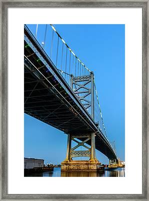 Ben Franklin Bridge Framed Print by Louis Dallara