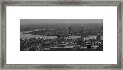 Ben Franklin Bridge Framed Print by Mark Ayzenberg