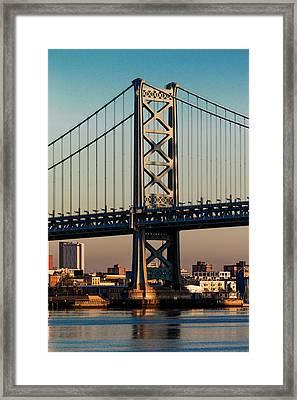 Ben Franklin Bridge Over Delaware River Framed Print