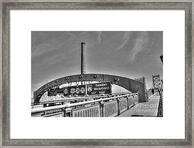 Ben Franklin Bridge Walkway Framed Print