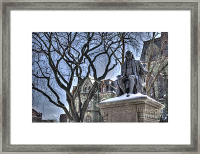 Ben Franklin College Hall - Upenn Framed Print
