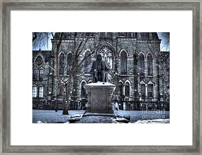 Ben Franklin College Hall Framed Print by Mark Ayzenberg