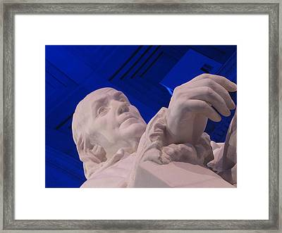 Ben Franklin In Blue I Framed Print