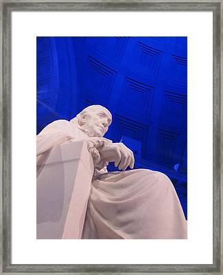 Framed Print featuring the photograph Ben Franklin In Blue II by Richard Reeve
