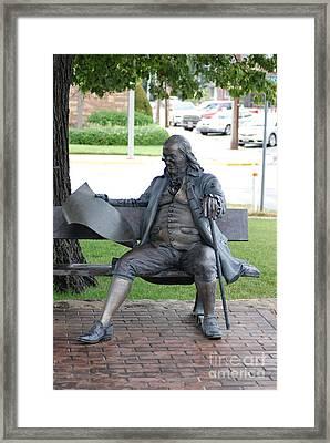 Ben Franklin Statue Framed Print