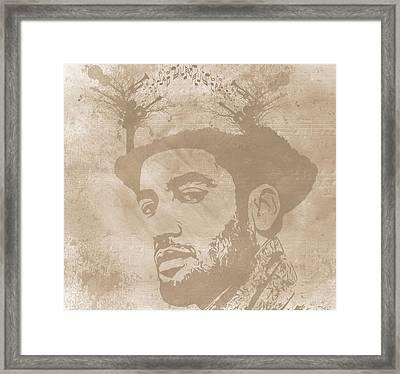 Ben Harper Music Man Framed Print by Dan Sproul