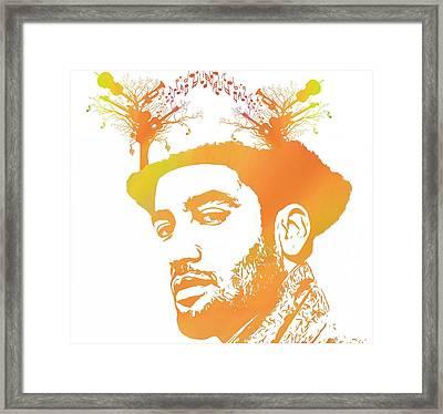 Ben Harper Pop Art Framed Print