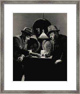 Ben Hecht And Charles Macarthur Playing Framed Print by Lusha Nelson