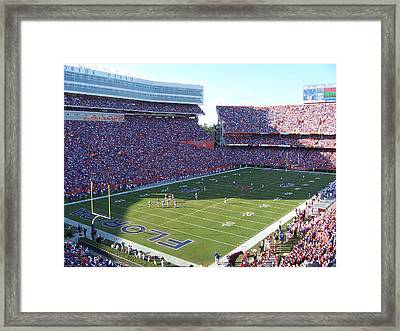 Ben Hill Griffin Stadium Framed Print by Georgia Fowler