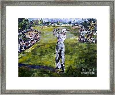 Ben Hogan Golf Painting Framed Print