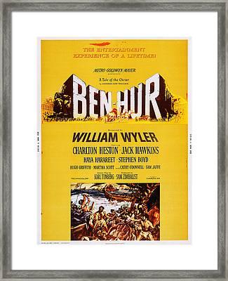 Ben-hur, Poster Art, 1959 Framed Print