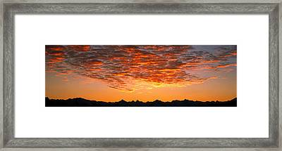 Ben Ohau Mtn Range S Canterbury New Framed Print by Panoramic Images