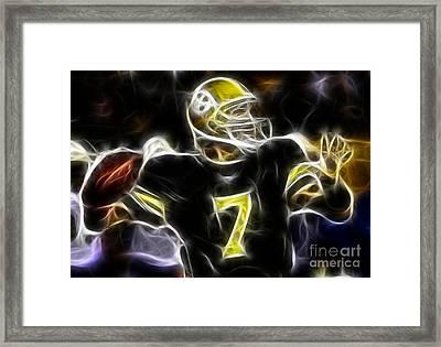 Ben Roethlisberger  - Pittsburg Steelers Framed Print by Paul Ward