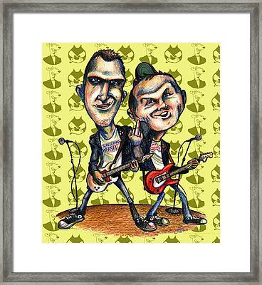 Ben Weasel And Joe Queer Framed Print