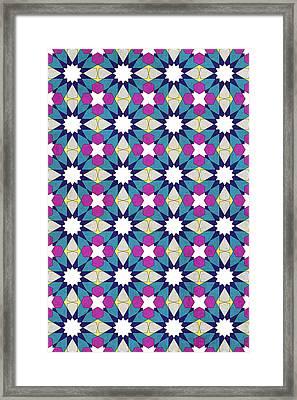 Ben Yusuf Madrasa Geometric Pattern 1 Framed Print by Hakon Soreide
