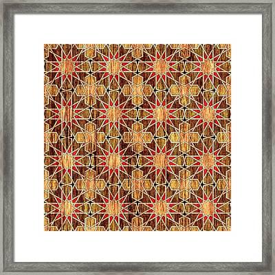 Ben Yusuf Madrasa Geometric Pattern Wood Framed Print