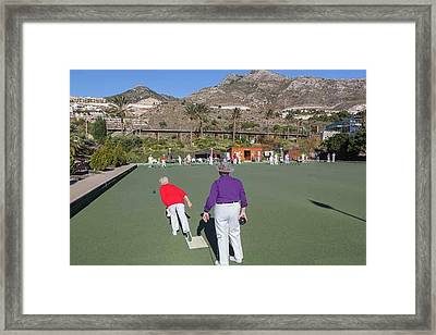 Benalmadena, Costa Del Sol, Spain Framed Print by Ken Welsh