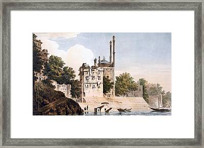 Benares On The Ganges Framed Print by William Hodges