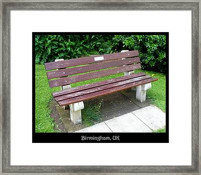 Bench 13 Framed Print by Roberto Alamino