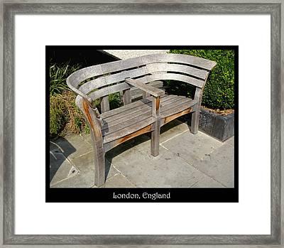 Bench 14 Framed Print by Roberto Alamino