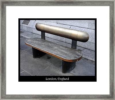 Bench #28 Framed Print by Roberto Alamino