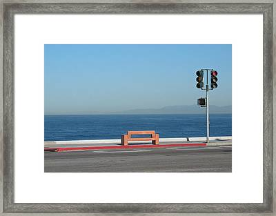 Bench By The Sea Framed Print