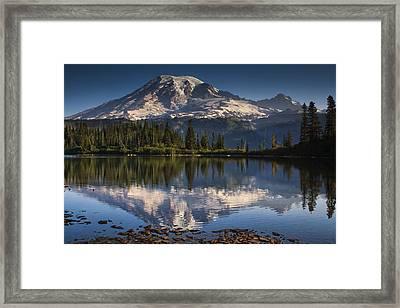 Bench Lake Sunrise Framed Print by Mark Kiver
