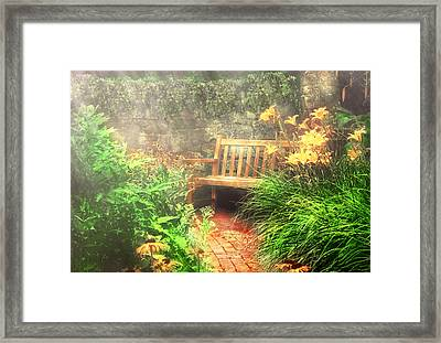 Bench - Privacy  Framed Print by Mike Savad