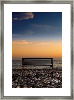 Bench Framed Print by Stelios Kleanthous