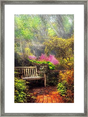 Bench - Tranquility II Framed Print by Mike Savad