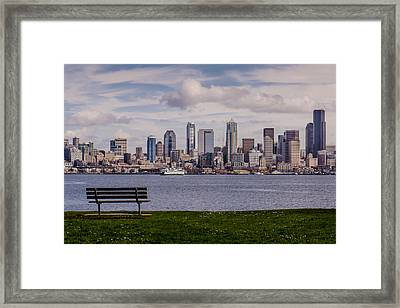 Bench With A View Framed Print by Dan Mihai