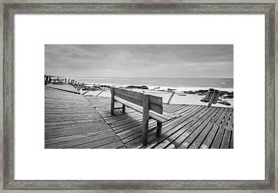 Bench With Swirl Framed Print