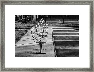 Benches At The Ready Framed Print