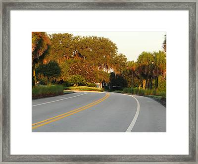 Bend In Road Framed Print