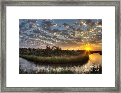 Bend In The Bayou Sunrise Framed Print