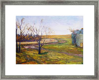Bend In The Driveway Framed Print