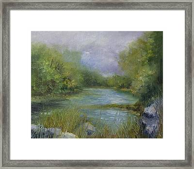 Bend In The River Framed Print by Donna Pierce-Clark