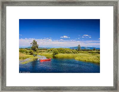 Bend Sunriver Thousand Trails Oregon Framed Print