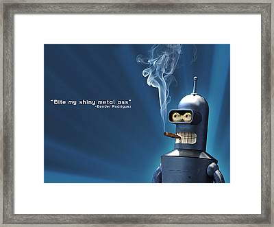 Bender Framed Print by Christian Masnaghetti