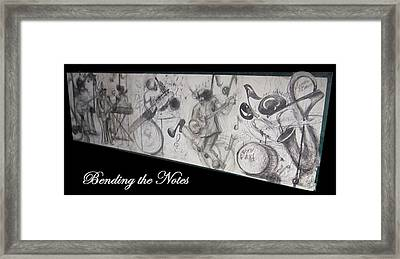 Bending The Notes Framed Print by Cathy Long