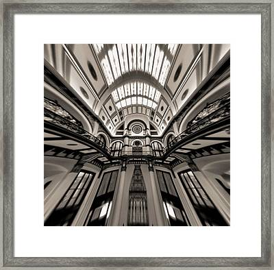 Bending Time In Union Station Framed Print by Dan Sproul