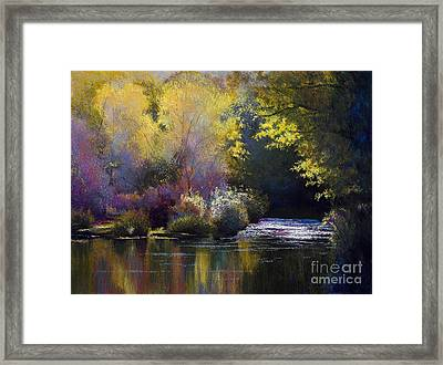 Bending With The River Framed Print by Vicky Russell