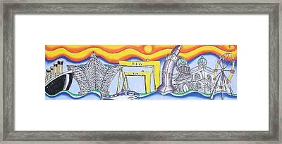 Bendy Belfast Framed Print by Tanya Mai Johnston