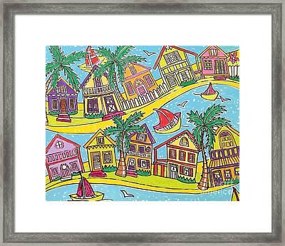 Bendy Key West Florida Usa Framed Print