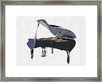 Bendy Piano Framed Print