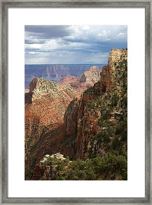 View Beneath Angel's Window Framed Print