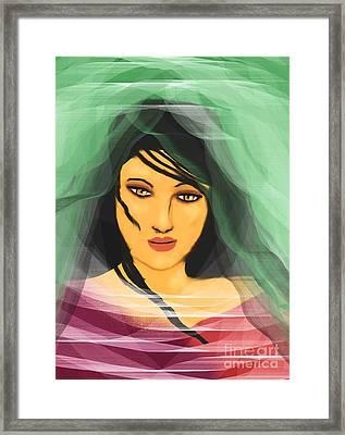 Beneath The Layers Framed Print by Hilda Lechuga