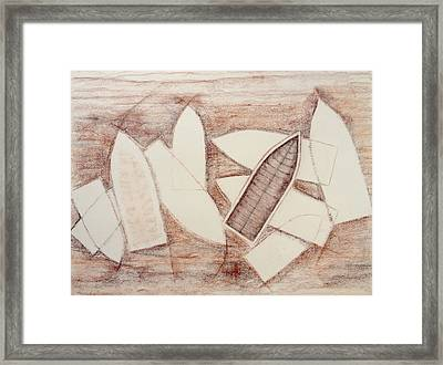 Beneath The Sand Framed Print by Diana Perfect