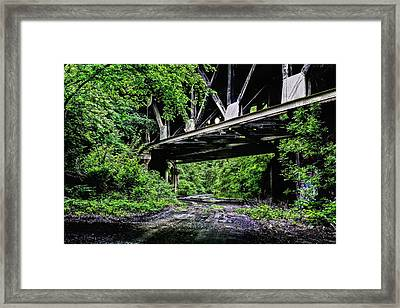 Beneath The Skyway Framed Print by JC Findley